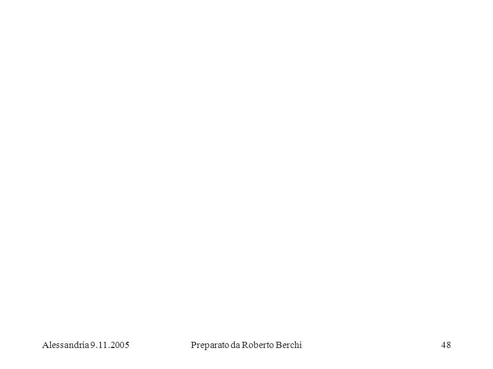 Alessandria 9.11.2005Preparato da Roberto Berchi48