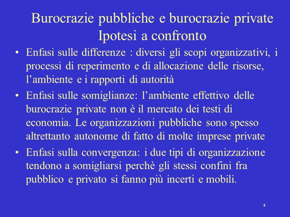 1 Le burocrazie pubbliche (Panebianco 1986) Struttura Burocrazie pubbliche e burocrazie private Definizioni di burocrazia Definizione di Weber; tipi d