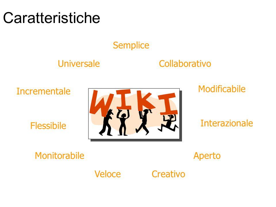 Caratteristiche Flessibile Veloce Semplice Aperto Modificabile Incrementale Universale Monitorabile Collaborativo Interazionale Creativo