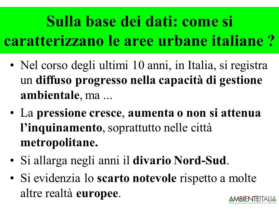 Le italiane peggiori per la percentuale degli spostamenti su mezzo privato (> 50%)