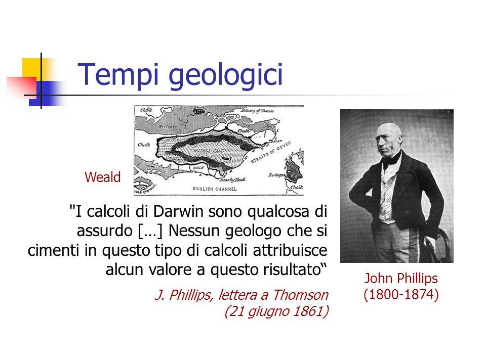 Tempi geologici John Phillips (1800-1874) Weald