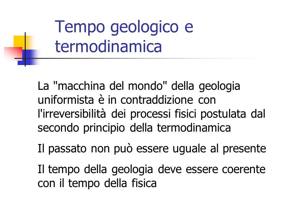 Tempo geologico e termodinamica La