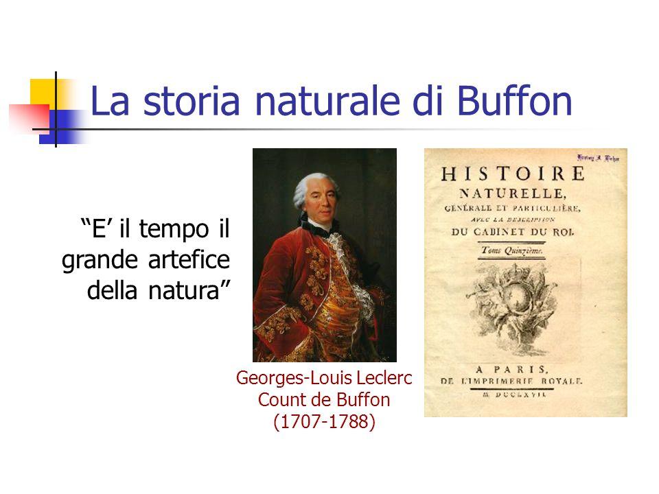 """La storia naturale di Buffon Georges-Louis Leclerc Count de Buffon (1707-1788) """"E' il tempo il grande artefice della natura"""""""