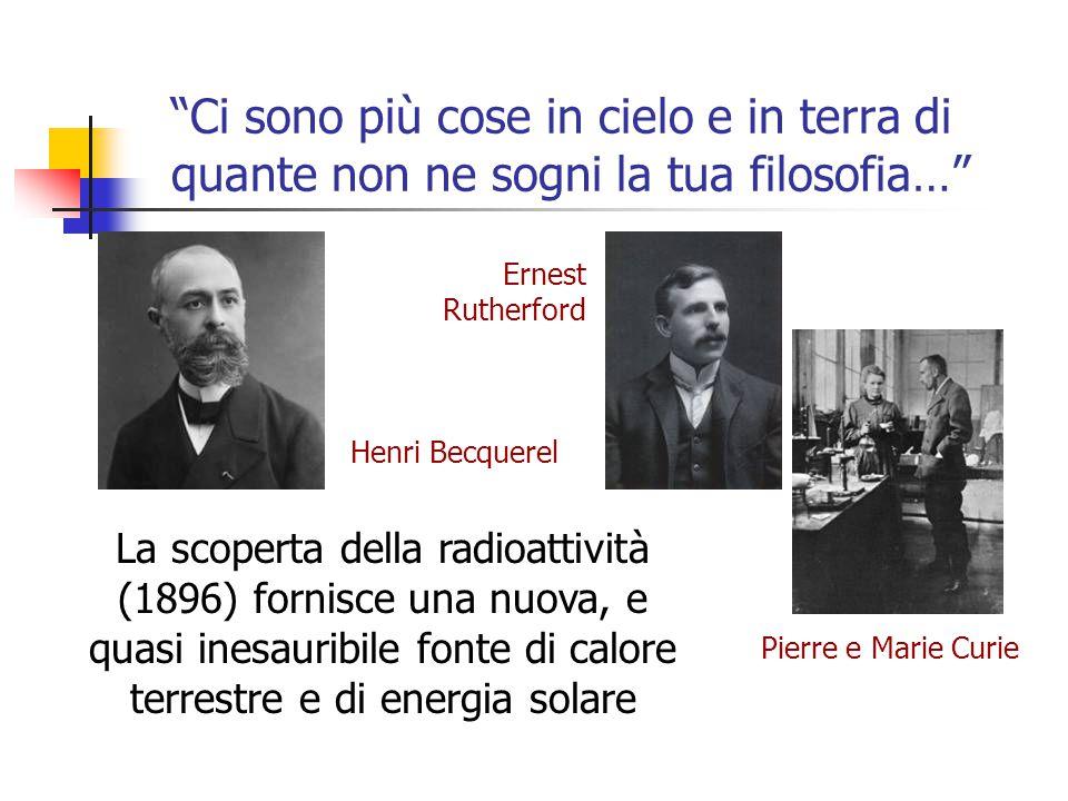 """""""Ci sono più cose in cielo e in terra di quante non ne sogni la tua filosofia…"""" Henri Becquerel La scoperta della radioattività (1896) fornisce una nu"""