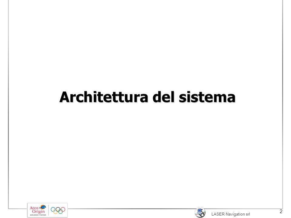 LASER Navigation srl 2 Architettura del sistema
