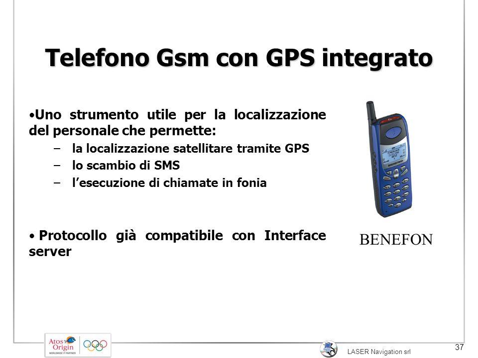 LASER Navigation srl 37 Telefono Gsm con GPS integrato Uno strumento utile per la localizzazione del personale che permette: – la localizzazione satel
