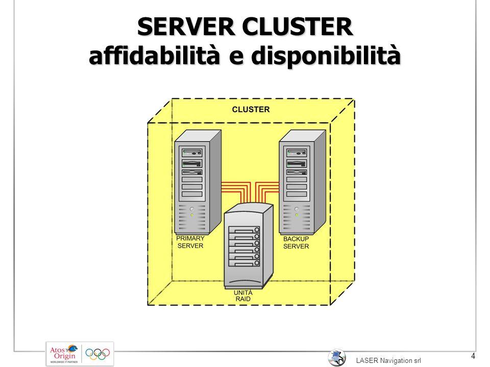 4 SERVER CLUSTER affidabilità e disponibilità