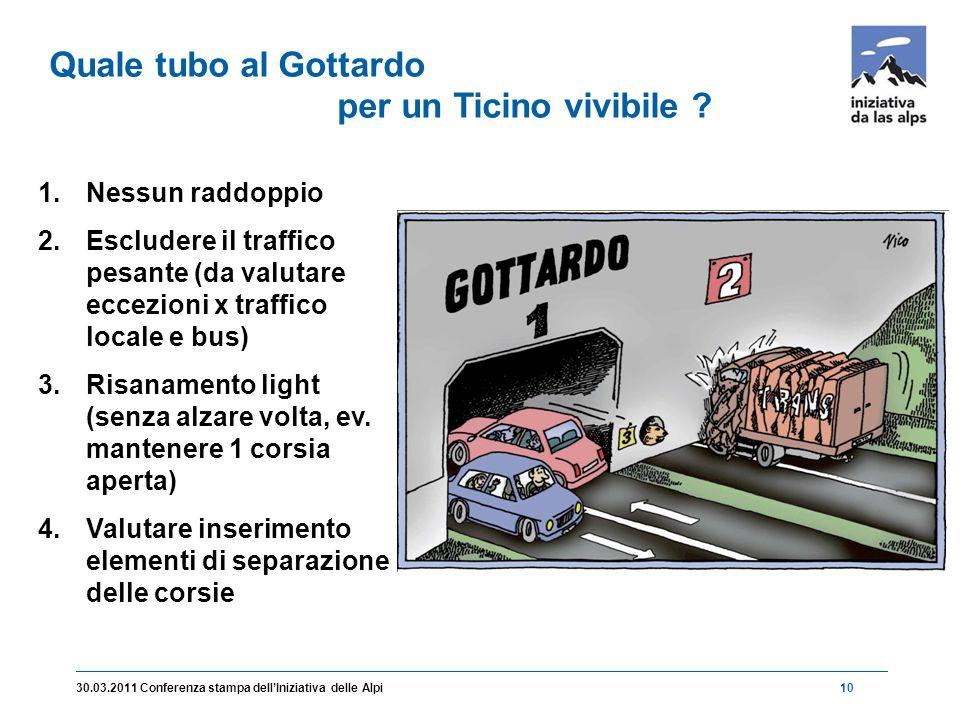 1030.03.2011 Conferenza stampa dell'Iniziativa delle Alpi Quale tubo al Gottardo per un Ticino vivibile .