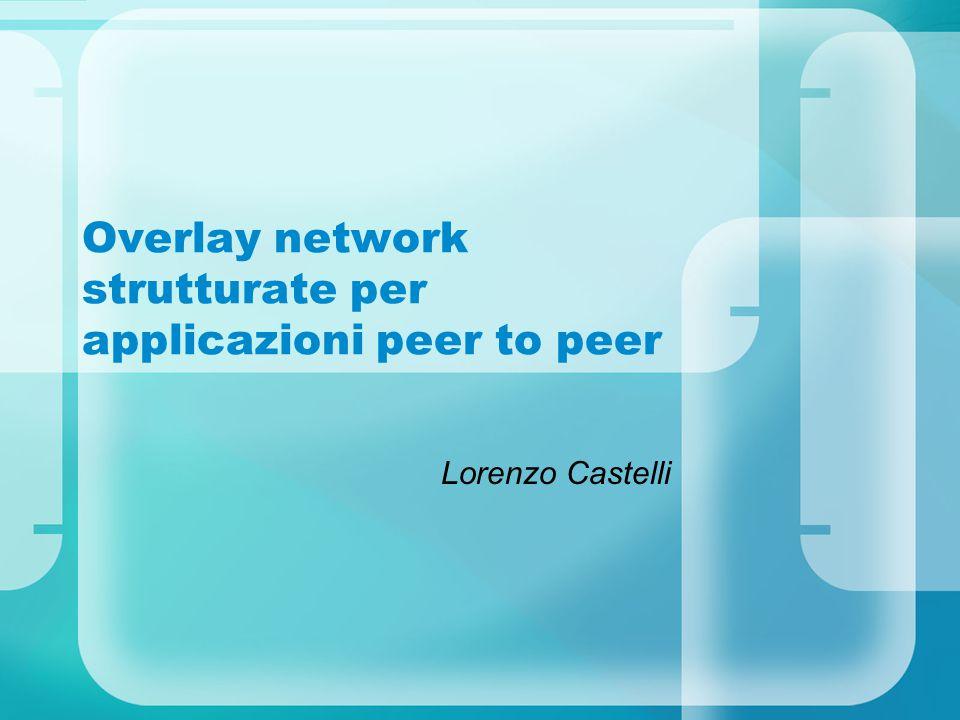 Overlay network strutturate per applicazioni peer to peer Lorenzo Castelli