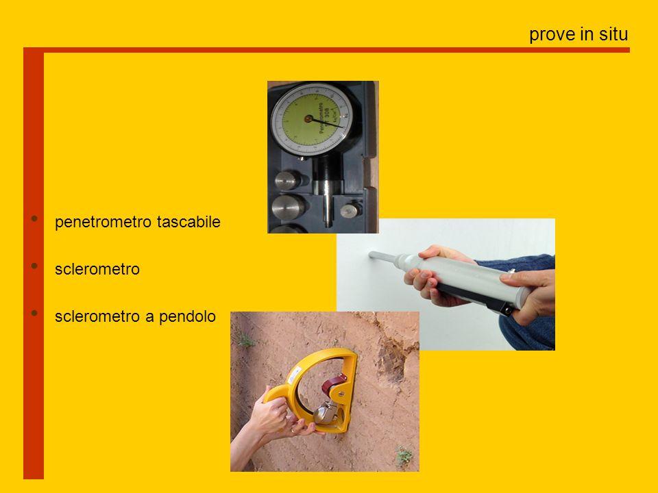 prove in situ penetrometro tascabile sclerometro sclerometro a pendolo
