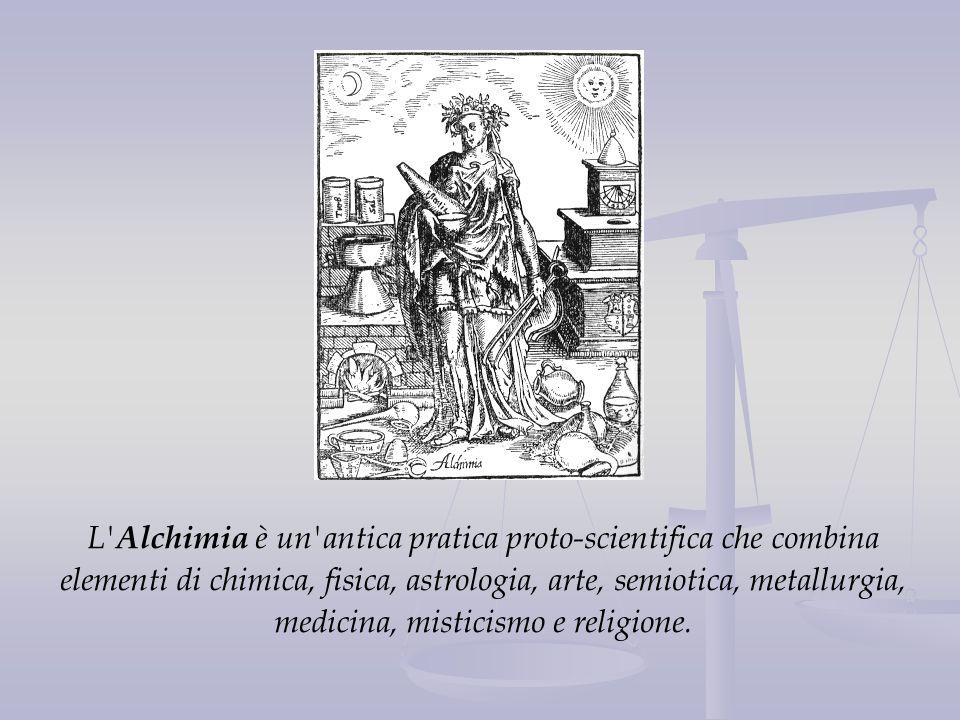 L' Alchimia è un'antica pratica proto-scientifica che combina elementi di chimica, fisica, astrologia, arte, semiotica, metallurgia, medicina, mistici