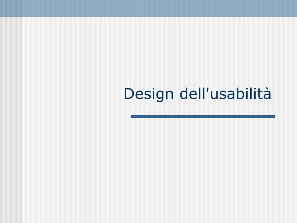 Design dell'usabilità