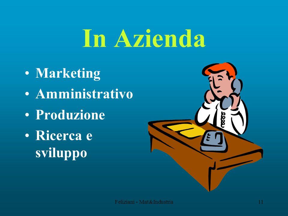 Feliziani - Mat&Industria11 In Azienda Marketing Amministrativo Produzione Ricerca e sviluppo