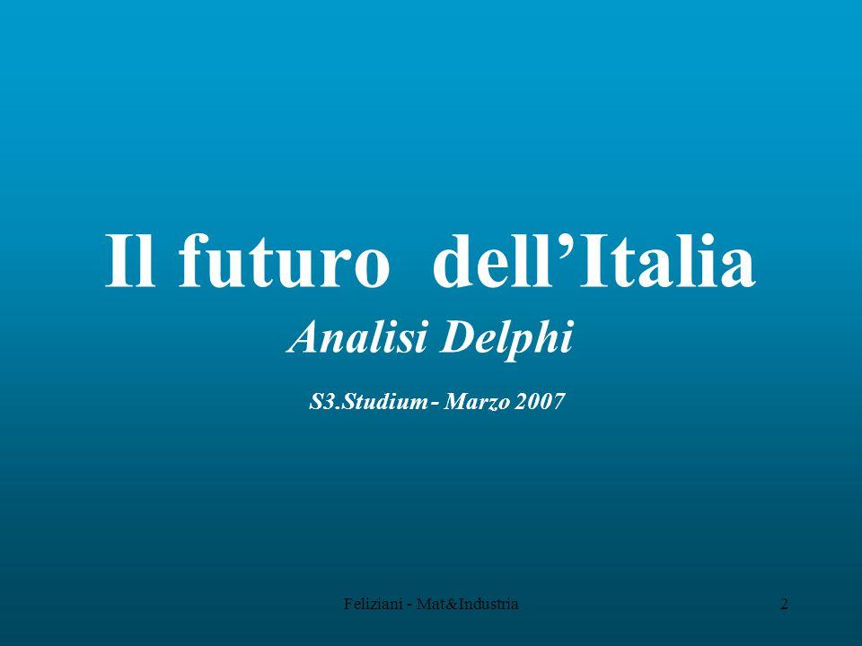 Feliziani - Mat&Industria2 Il futuro dell'Italia Analisi Delphi S3.Studium - Marzo 2007