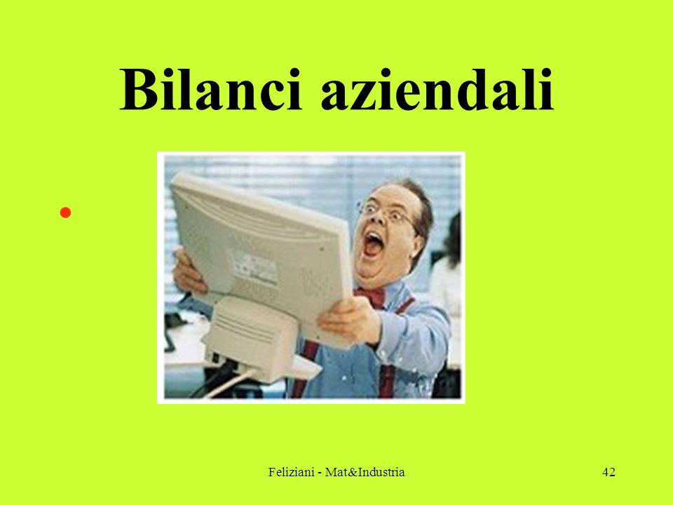 Feliziani - Mat&Industria42 Bilanci aziendali