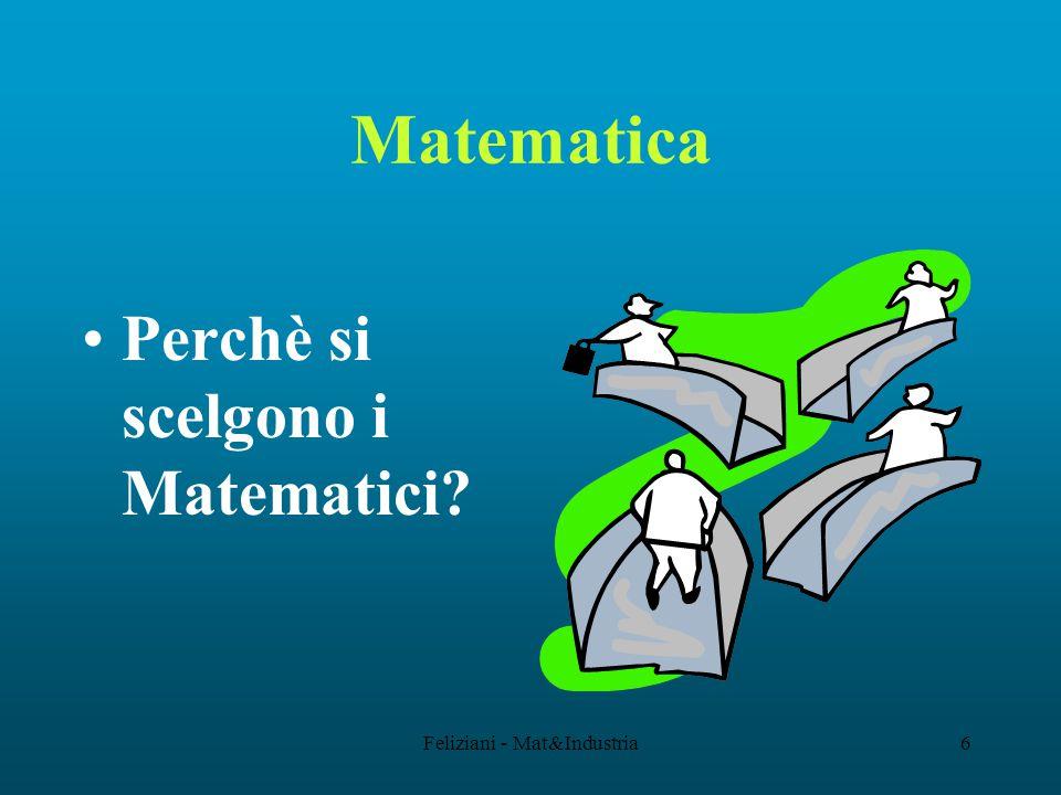 Feliziani - Mat&Industria6 Matematica Perchè si scelgono i Matematici