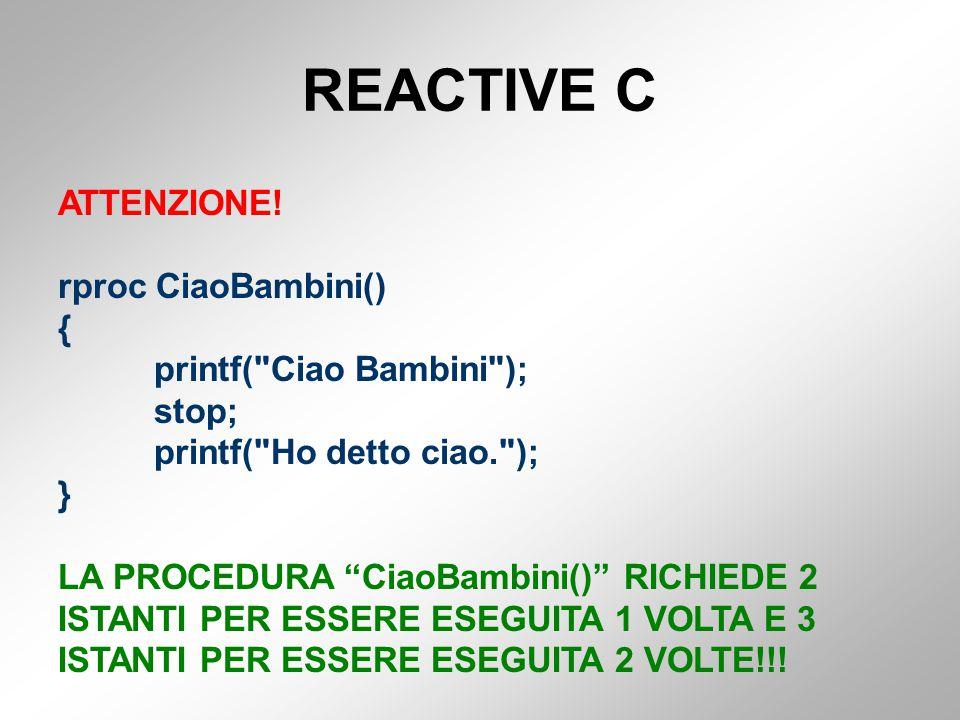 REACTIVE C ATTENZIONE.