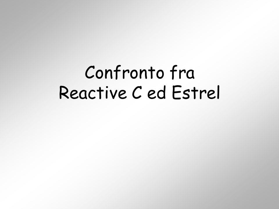 Confronto fra Reactive C ed Estrel