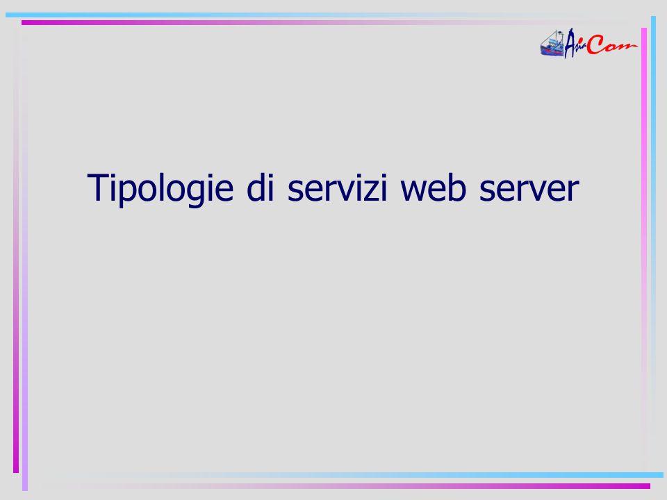 Tipologie di servizi web server
