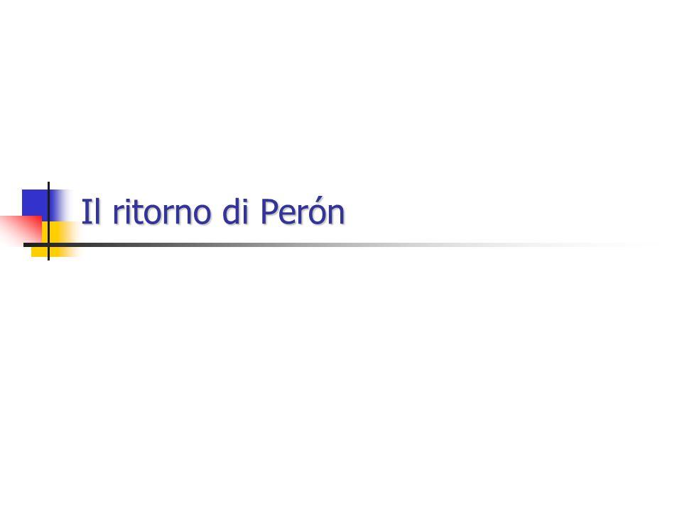Il ritorno di Perón