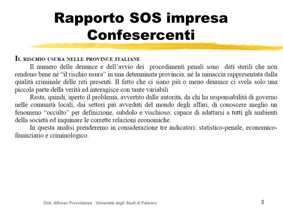 Dott.Alfonso Provvidenza Università degli Studi di Palermo 19 Legge 23 febbraio 1999, n.