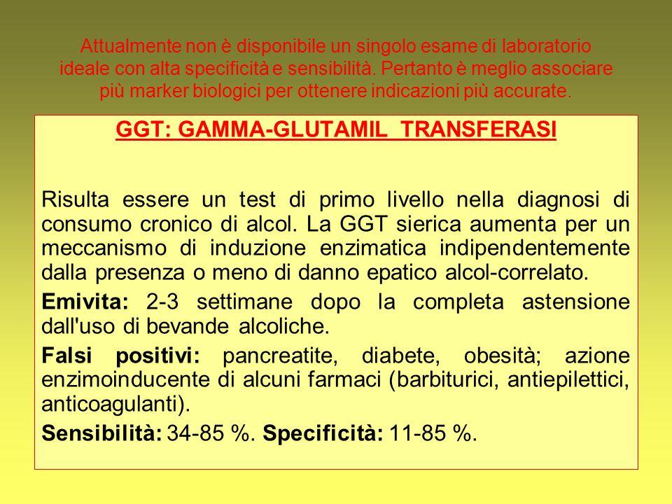 Attualmente non è disponibile un singolo esame di laboratorio ideale con alta specificità e sensibilità. Pertanto è meglio associare più marker biolog