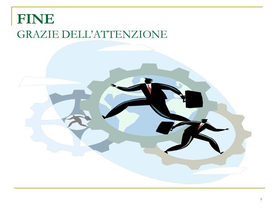 7 FINE GRAZIE DELL'ATTENZIONE