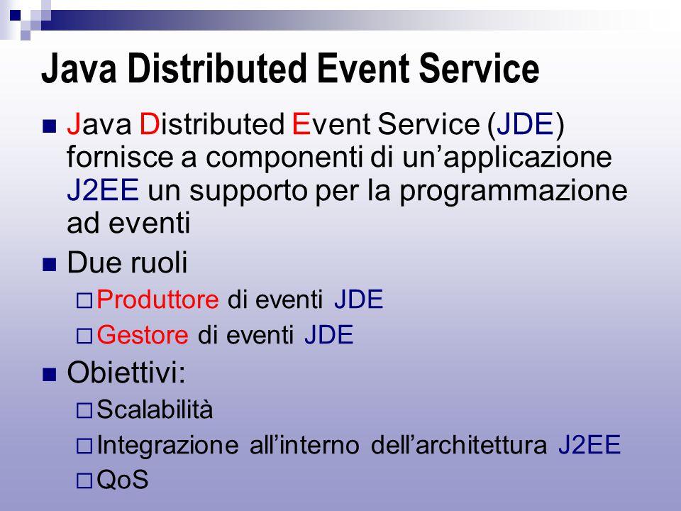 JDE – architettura di riferimento J2EE Application Server JDE Server JDEChannel Client
