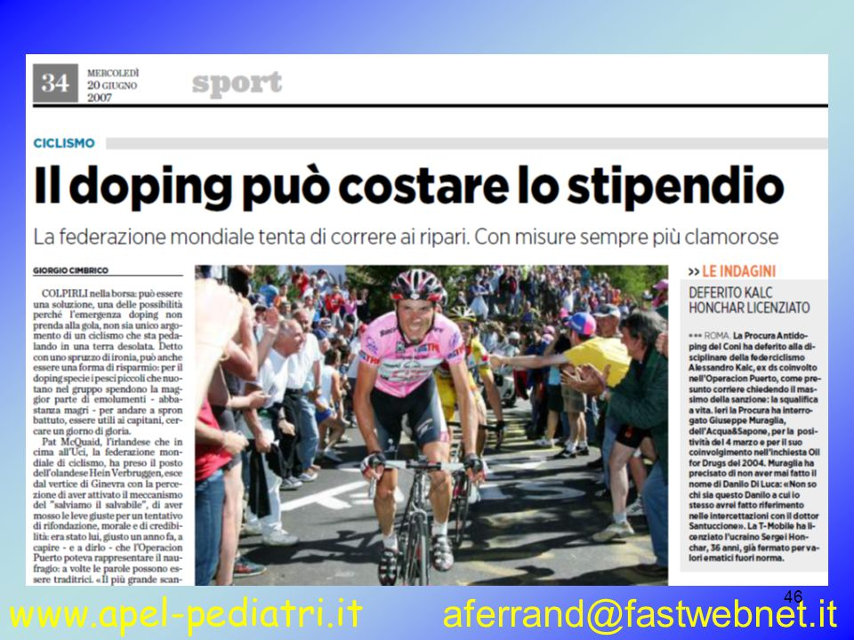 www.apel-pediatri.it aferrand@fastwebnet.it 46