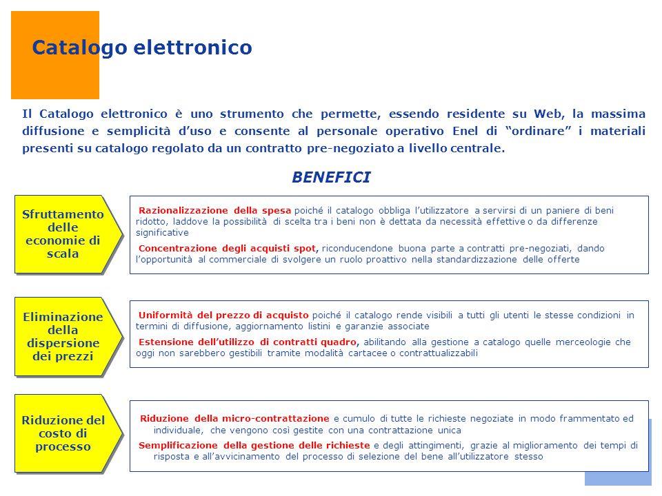 Catalogo elettronico Il Catalogo elettronico è uno strumento che permette, essendo residente su Web, la massima diffusione e semplicità d'uso e consen