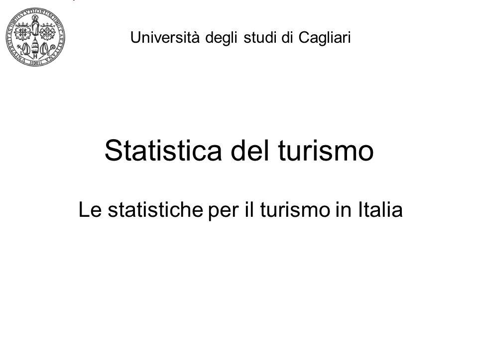 Statistica del turismo Le statistiche per il turismo in Italia Università degli studi di Cagliari