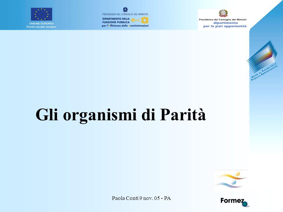 Paola Conti 9 nov. 05 - PA Gli organismi di Parità
