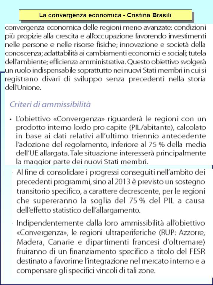 5 La convergenza economica - Cristina Brasili
