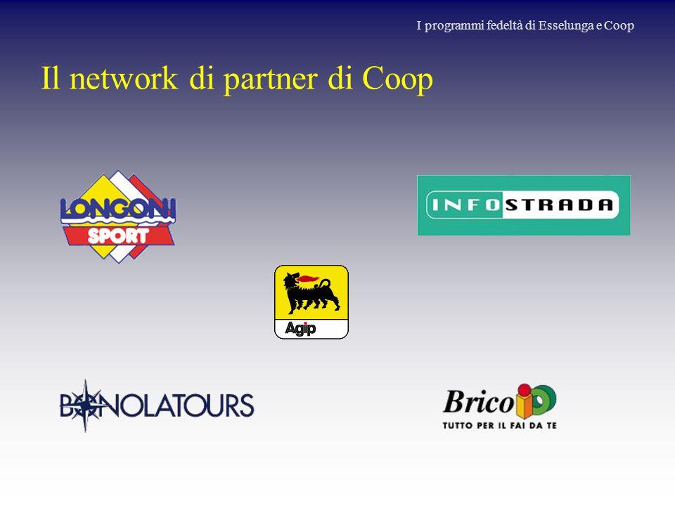 Il network di partner di Coop I programmi fedeltà di Esselunga e Coop