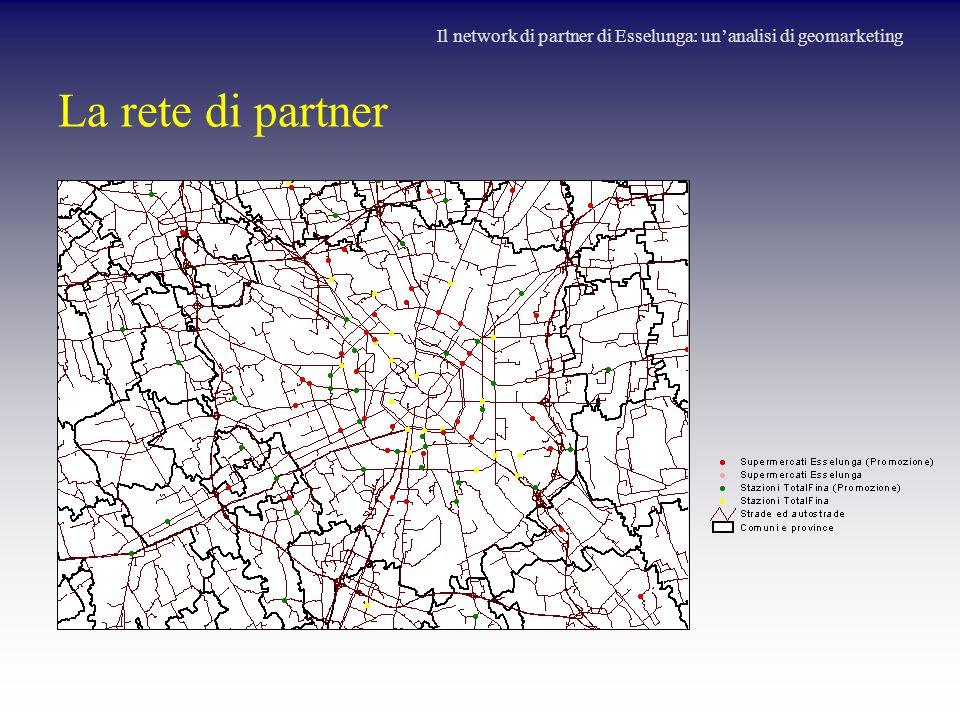 La rete di partner Il network di partner di Esselunga: un'analisi di geomarketing