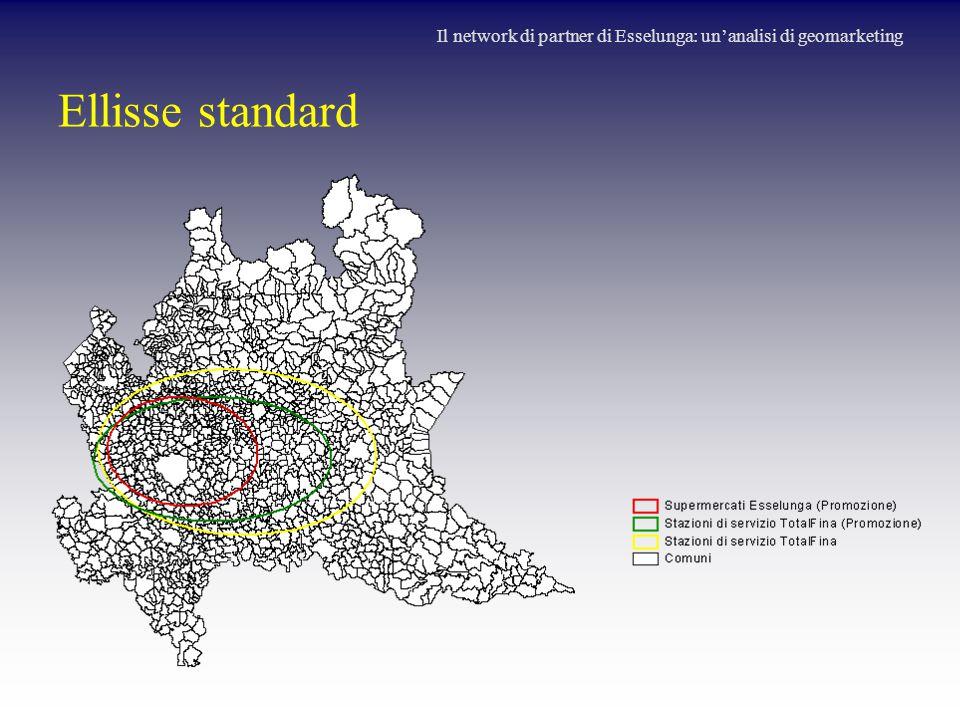 Ellisse standard Il network di partner di Esselunga: un'analisi di geomarketing