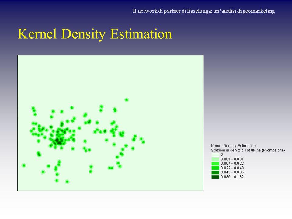 Kernel Density Estimation Il network di partner di Esselunga: un'analisi di geomarketing