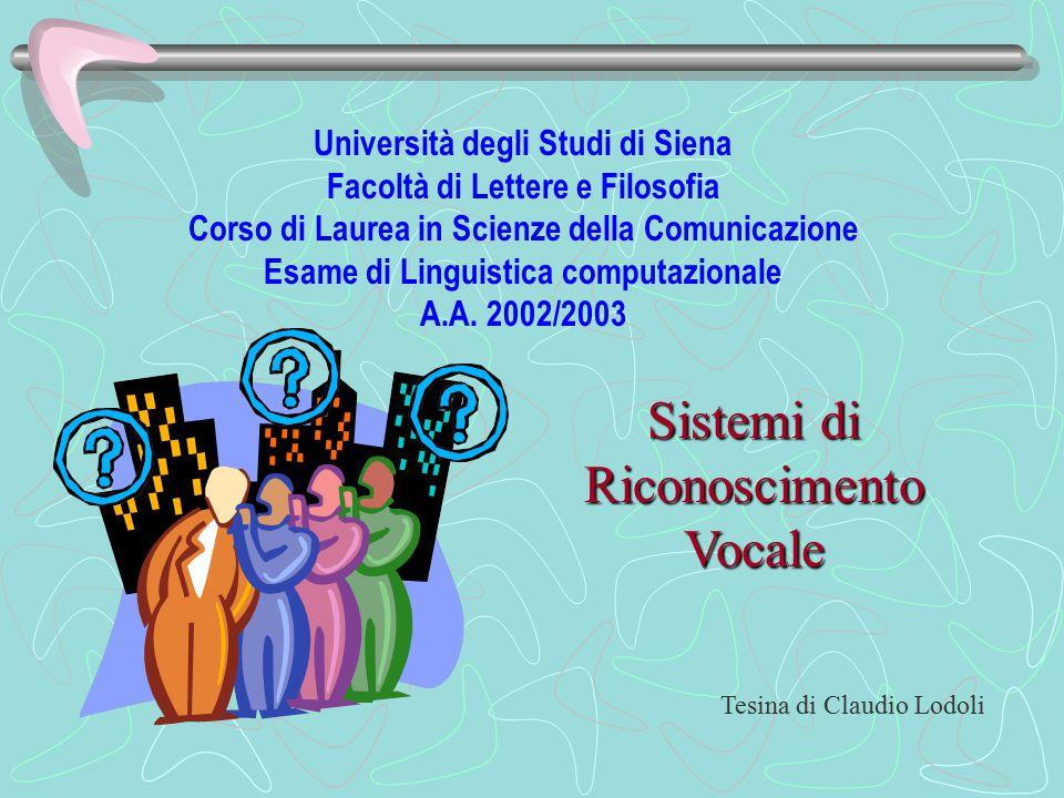 I sistemi di riconoscimento vocale (SRV) consentono il controllo di un computer attraverso comandi vocali.