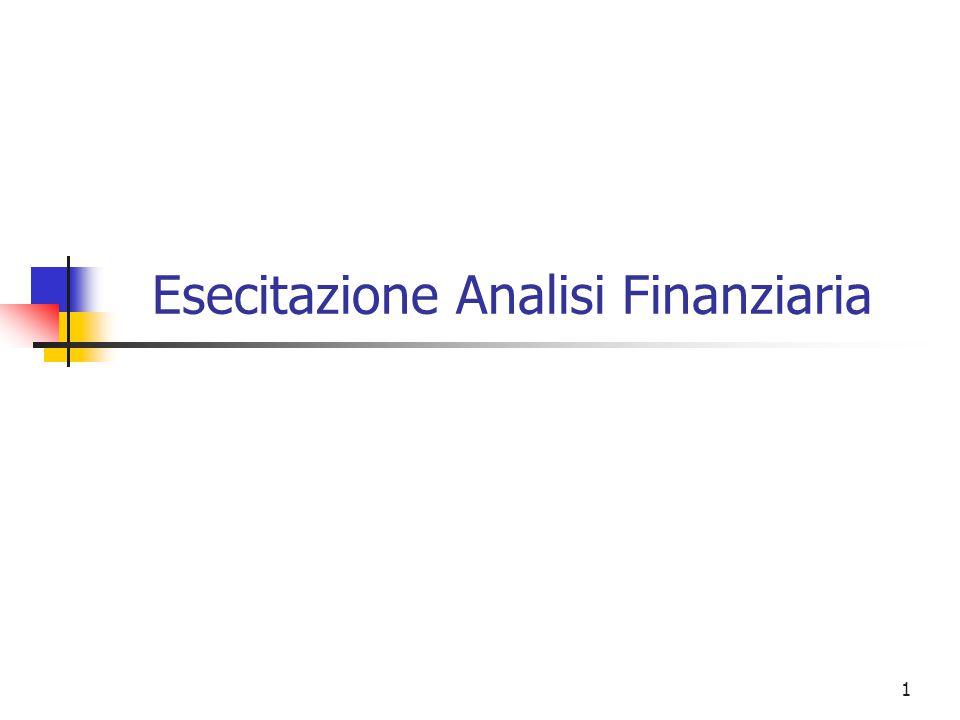 1 Esecitazione Analisi Finanziaria