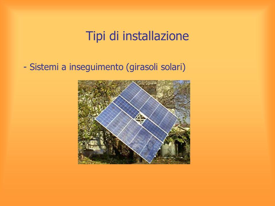 Tipi di installazione - Sistemi a inseguimento (girasoli solari)