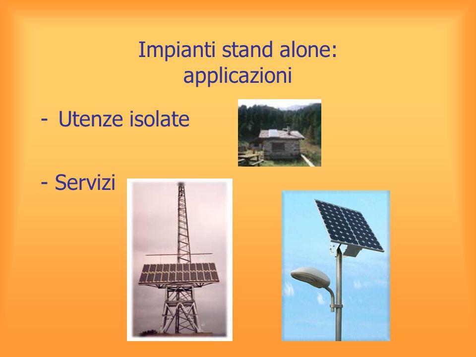 Impianti stand alone: applicazioni -Utenze isolate - Servizi
