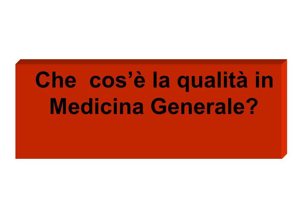 Che cos'è la qualità in Medicina Generale?