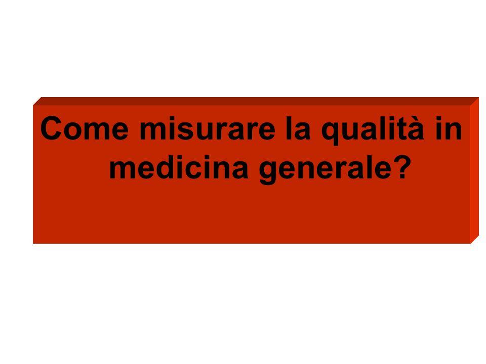 Come misurare la qualità in medicina generale?