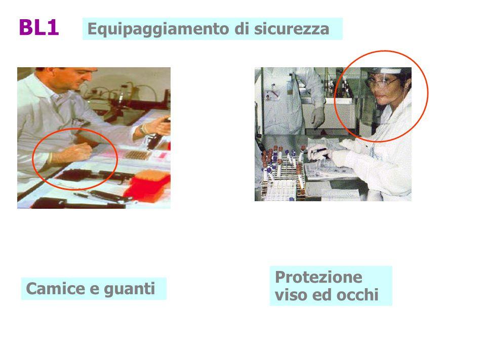 Equipaggiamento di sicurezza Camice e guanti Protezione viso ed occhi BL1