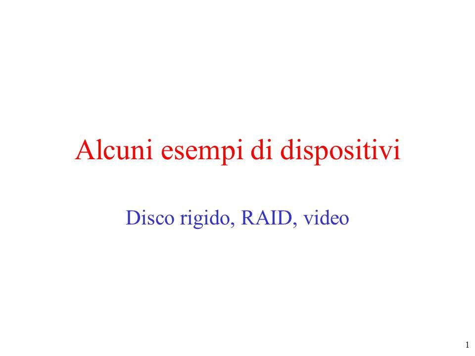 1 Alcuni esempi di dispositivi Disco rigido, RAID, video