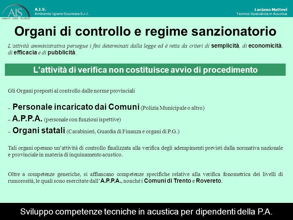 Attivazione del controllo Luciano Mattevi Tecnico Specialista in Acustica Le verifiche fonometriche sono attivate per mezzo di una segnalazione scritta da parte del/i soggetto/i disturbato/i.