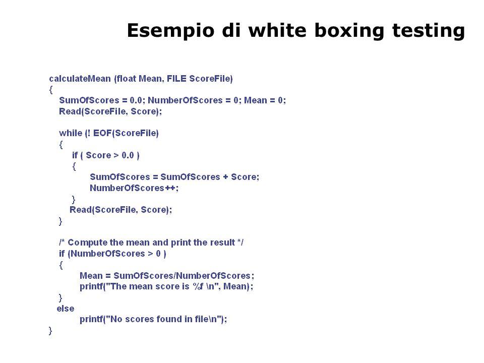 Esempio di white boxing testing