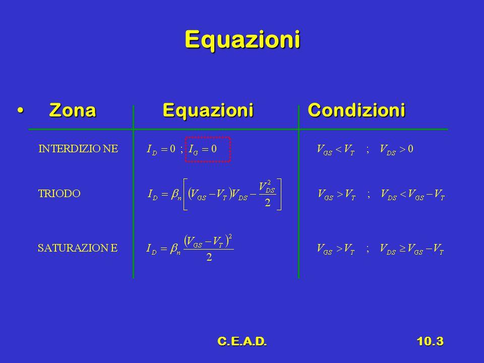 C.E.A.D.10.3 Equazioni ZonaEquazioniCondizioni ZonaEquazioniCondizioni