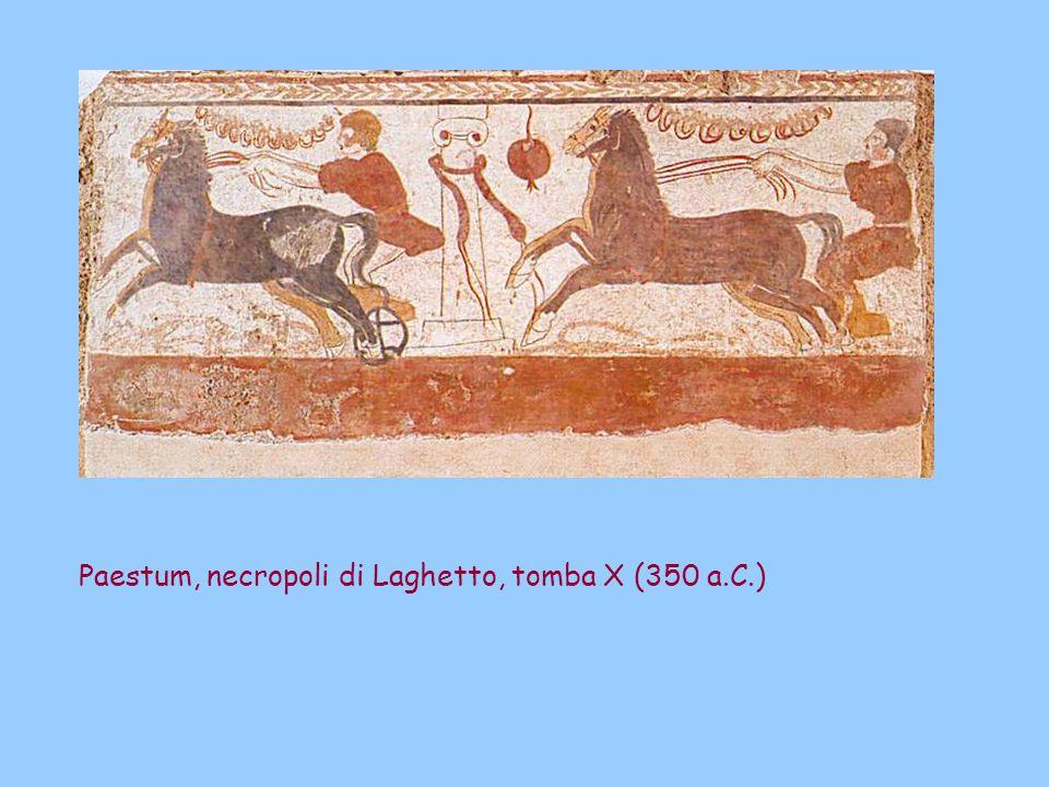 Paestum, necropoli di Laghetto, tomba X (350 a.C.)