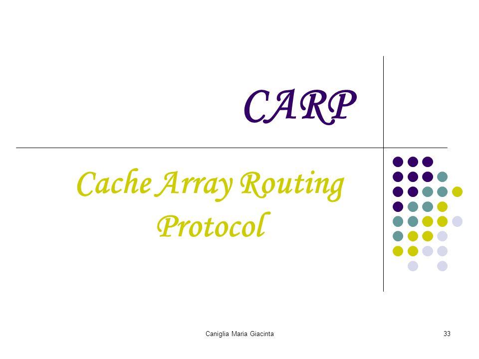 Caniglia Maria Giacinta33 CARP Cache Array Routing Protocol